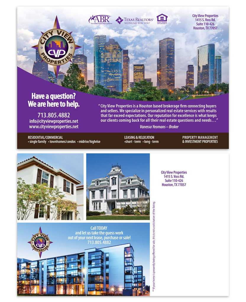 Houston Postcard Design | Custom Postcard | Postcard Marketing